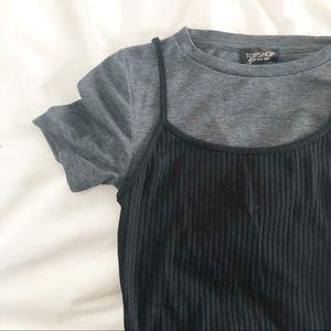 ✨🆕 Topshop l T Shirt Layered Midi Dress